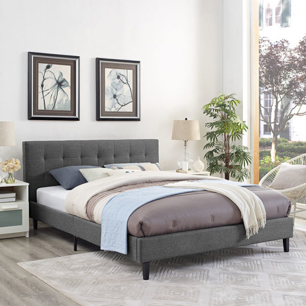 Linnea Bed Gray Affordable Portables Chicago