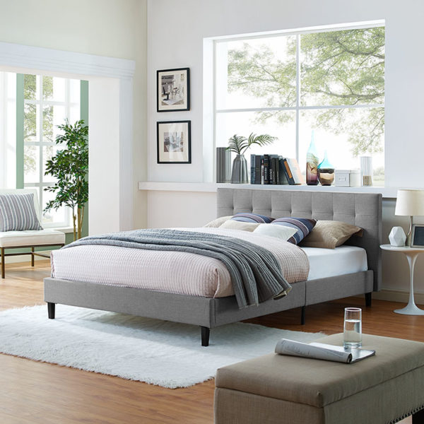 Linnea Bed Light Gray Affordable Portables Chicago