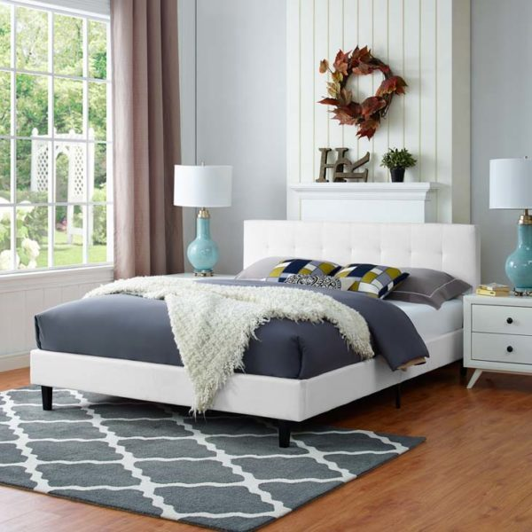 Linnea Bed White Affordable Portables Chicago