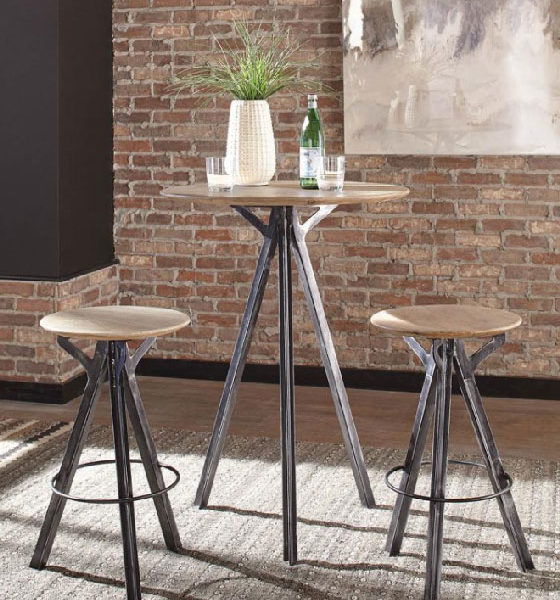 Bar Table Gunmetal Affordable Portables