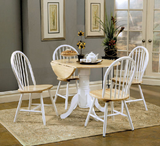 Drop-Leaf-Table White Affordable Portables