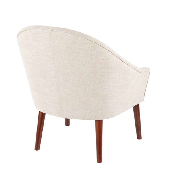 Bacci Accent Chair Oatmeal Back Angle Affordable Portables
