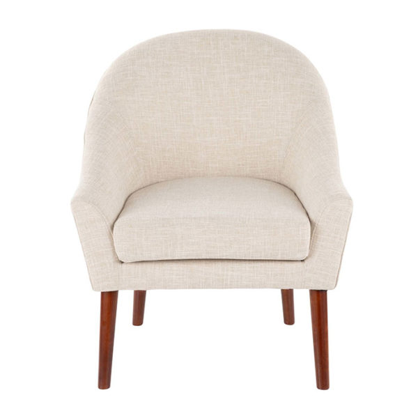 Bacci Accent Chair Oatmeal Front Affordable Portables