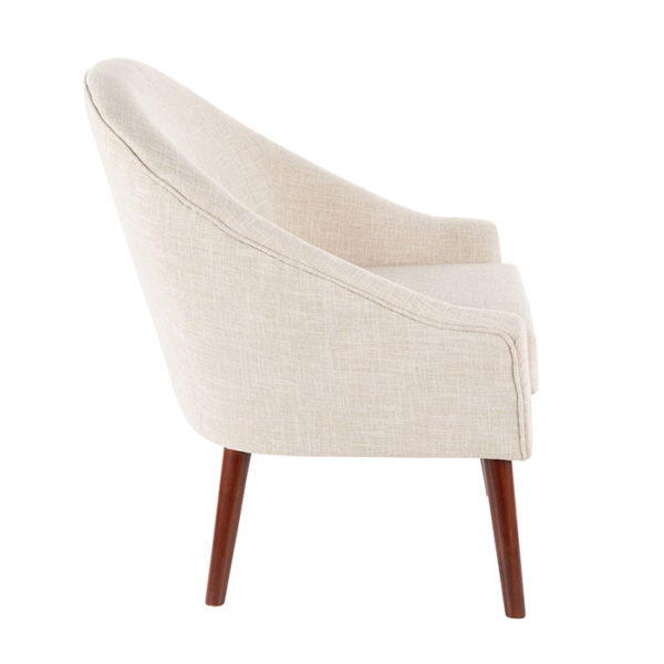 Bacci Accent Chair Oatmeal Side Affordable Portables