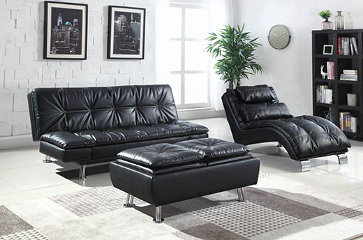 Dilleston Black Sofa Bed Room Set Affordable Portables