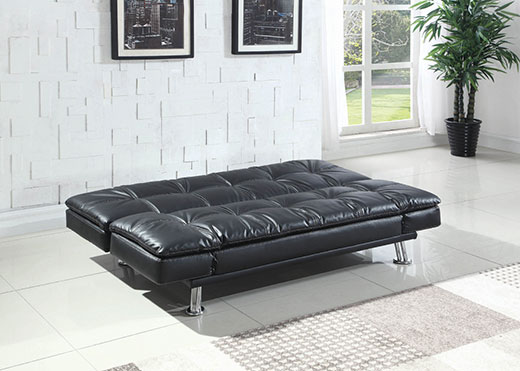 Dilleston Black Sofa as a Bed Affordable Portables