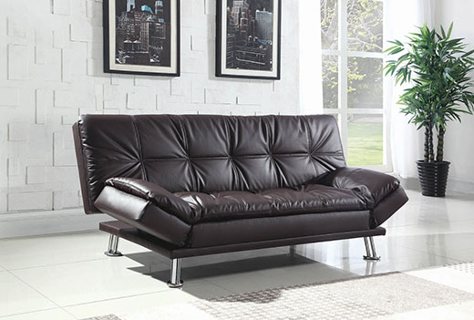Dilleston Brown Sofa Bed Affordable Portables