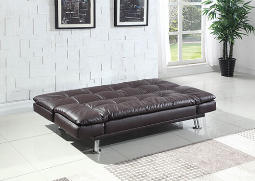 Dilleston Brown Sofa as a Bed Affordable Portables