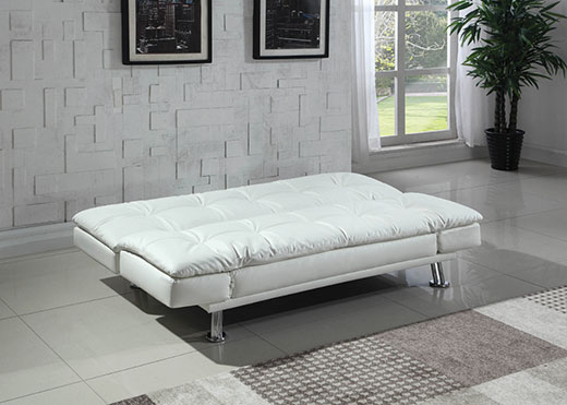 Dilleston White Sofa as a Bed Affordable Portables