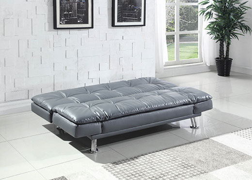 Dilleston Grey Sofa as a Bed Affordable Portables