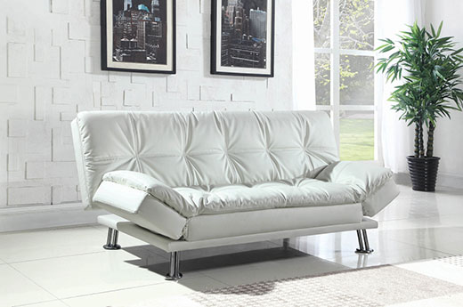 Dilleston White Sofa Bed Affordable Portables