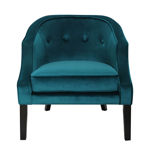 Sofia Accent Chair Front Emerald Green Affordable Portables