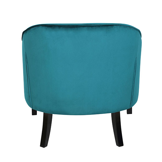 Sofia Accent Chair Back Emerald Green Affordable Portables