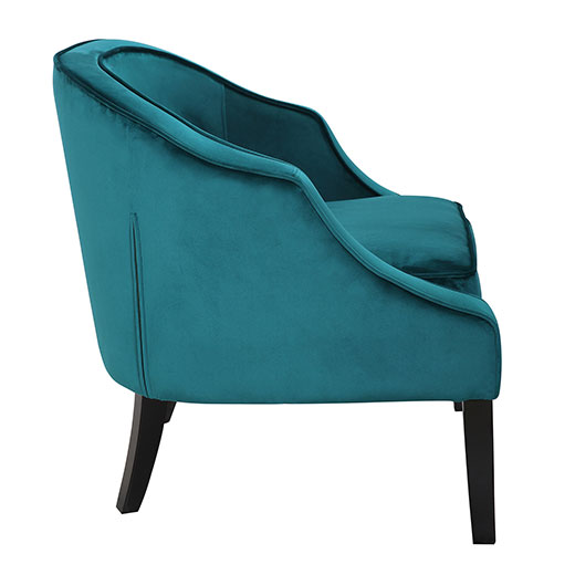 Sofia Accent Chair Side Emerald Green Affordable Portables