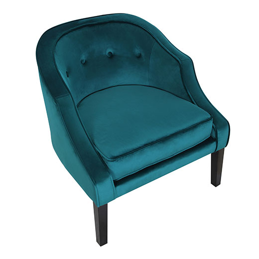 Sofia Accent Chair Emerald Green Affordable Portables