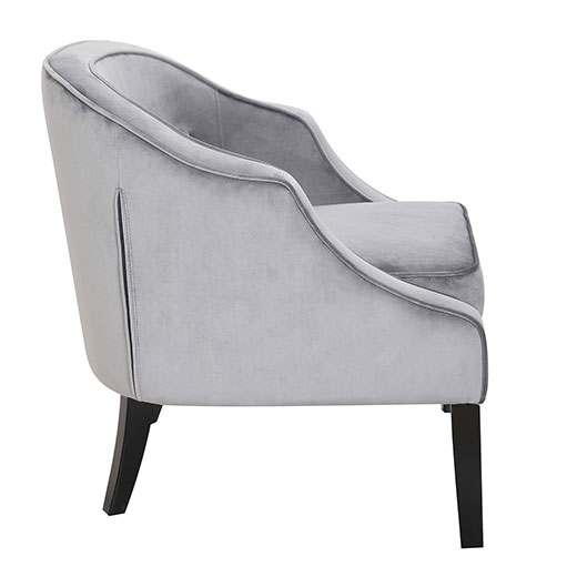 Sofia Accent Chair in Silver at Affordable Portables