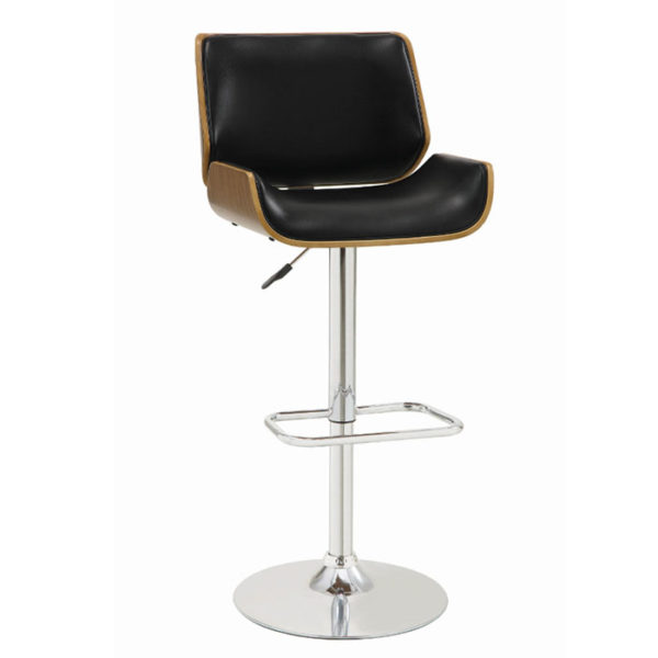 Black Adjustable Height Bar Stool Affordable Portables