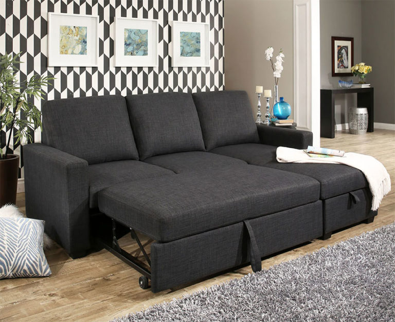 Newport Grey Sectional Sleeper