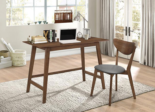 Desk and Chair Set Walnut Affordable Portables Chicago