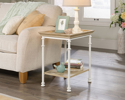 Canal Street Side Table White Affordable Portables